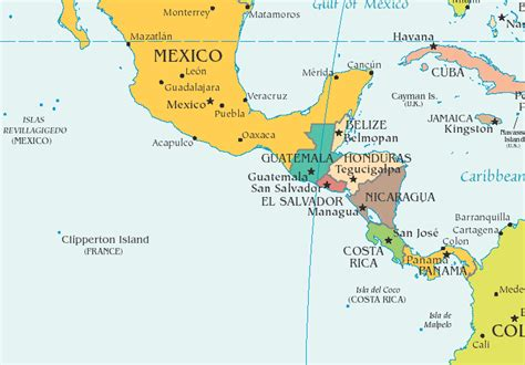 map of mexico central america printable map of mexico central america and south america