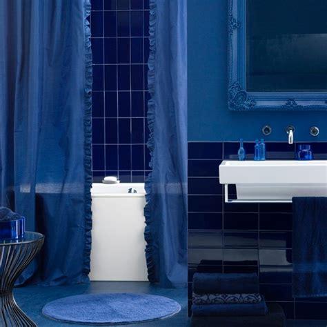 deep blue bathroom statement bathroom housetohome co uk