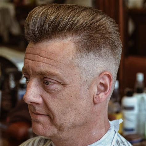 stylish haircuts men over 50 receding hair thinning hair hairstyles fade haircut