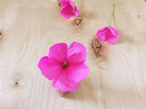 flores de crepe sencillas como hacer flores con papel crep 233 f 225 cil y r 225 pido vero hoy