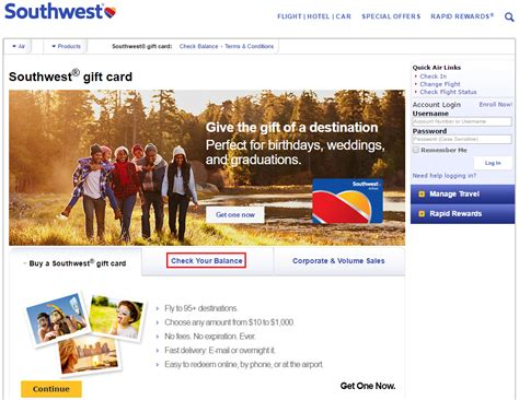 Check Next Gift Card - southwest airlines gift card balance gift ftempo