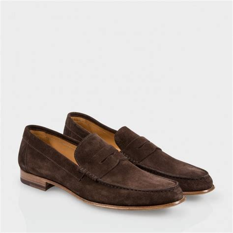 paul smith loafers paul smith brown suede casey loafers in brown for