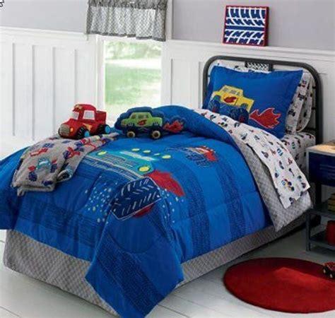 truck bedding monster trucks boys full comforter set 8 piece bed in a bag by kids bedding http www amazon