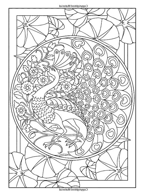 free online coloring pages for adults animals free coloring page 171 coloring adult art nouveau style