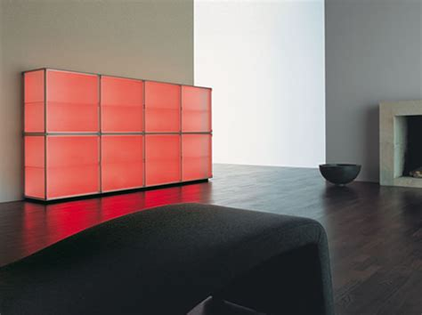 modern storage cabinets with cool illumination interior