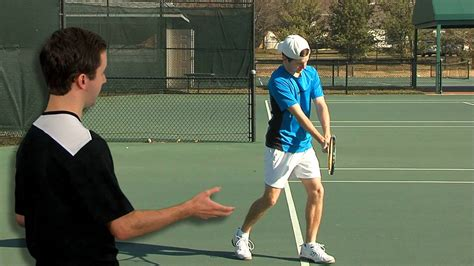 proper tennis swing tennis backhand swing to contact youtube