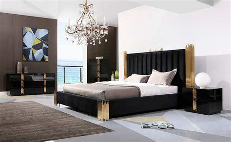 black  gold bed vg  modern bedroom furniture