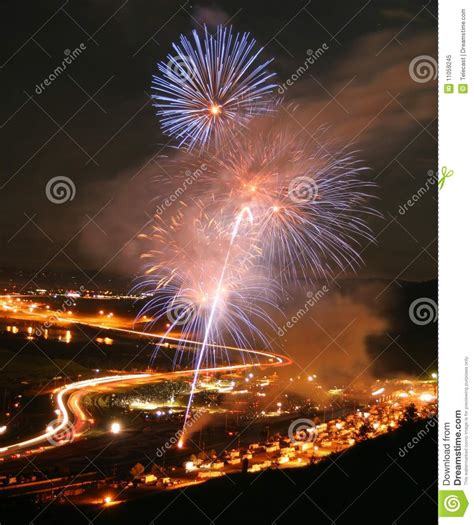 bandimere lights fireworks at bandimere speedway royalty free stock photo