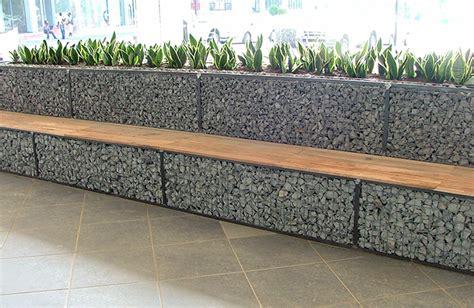 banc gabion superb mur soutenement bois 4 gabion murette banc jpg