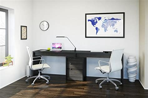 liber t home office kit with two reversible desk panels two person desk easier home furniture design