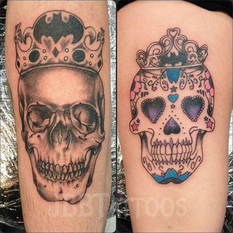 his her tattoos sugar skull tattoos his and tattoos skull
