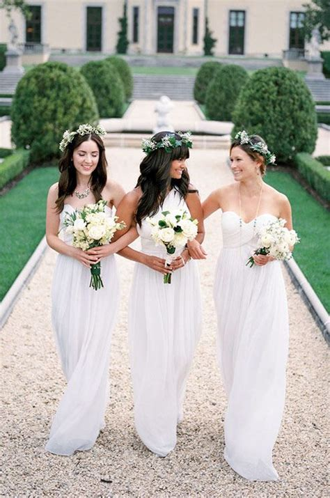 wedding colour themes bridesmaid dresses etc donna morgan spring 2014 white bridesmaid dresses ideas 1