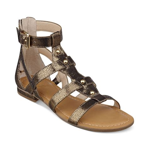 gladiator sandals marc fisher brandi flat gladiator sandals in gold antique