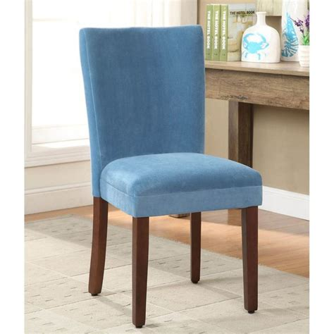 Teal Parsons Chair by Teal Velvet Parson Dining Chair Set Of 2
