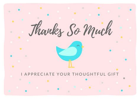 Thank You Card Baby Gift - thank you note wording thanks for baby shower gifts
