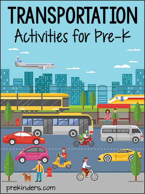 kindergarten themes transportation transportation activities and lesson plans for pre k and