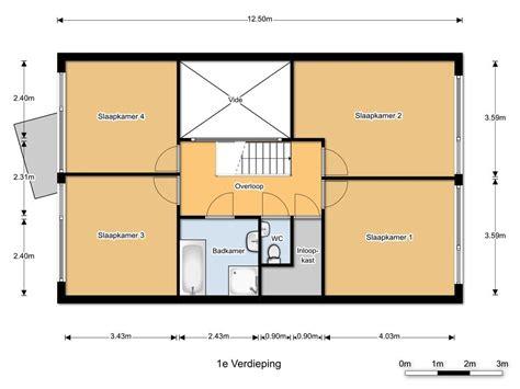 voorbeelden toilet indeling indeling bovenverdieping met 4 slaapkamers apart toilet