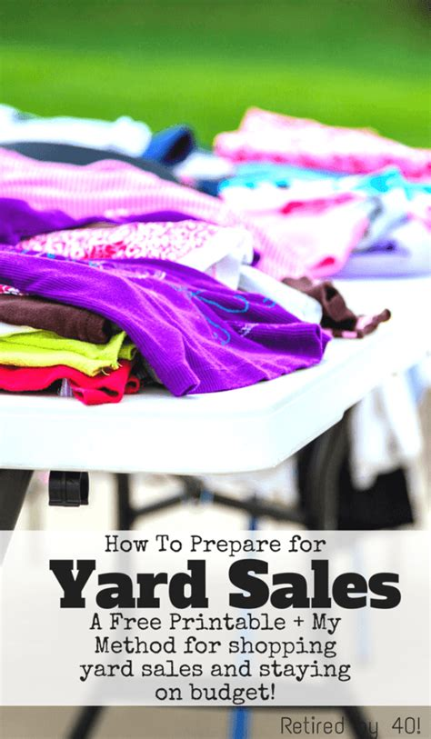 How To Prepare For A Garage Sale by How To Prepare For Yard Sales Living On Fifty