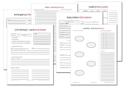 printable family information organizer 15 new free home management printables life your way