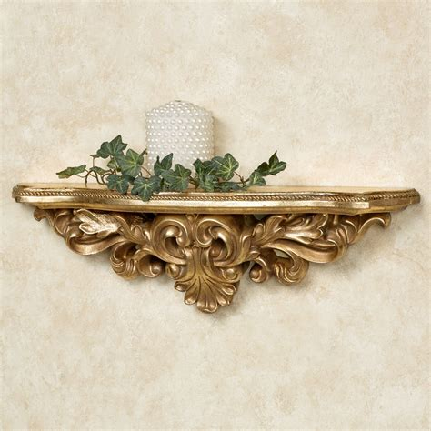 elisa baroque gold decorative wall shelf
