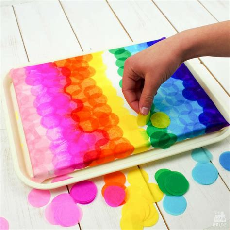 Colour Paper Crafts - bleeding tissue paper canvas in the madhouse