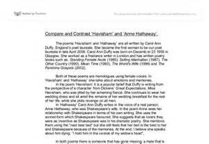 Miss Havisham Essay by Compare And Contrast Havisham And Hathaway By Carol Duffy Gcse Marked By