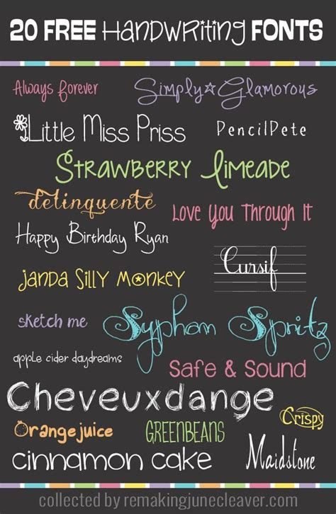 17 best images about free fonts on pinterest 20 free handwriting fonts handschriften anchor charts