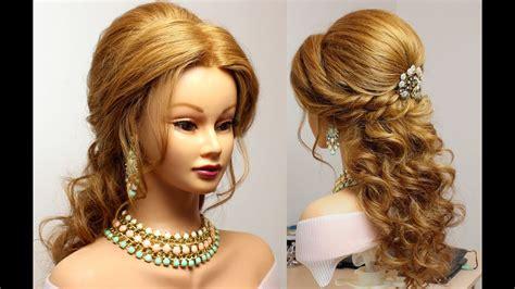 bridal hairstyle for medium hair tutorial