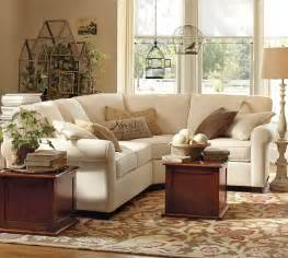 Sectional Sofas Pottery Barn Buchanan Roll Arm Upholstered Curved 3 Sectional With Wedge Pottery Barn