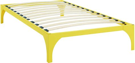 Ollie Yellow Twin Bed Frame Eei Mod 5430 Ylw Renegade Yellow Bed Frame