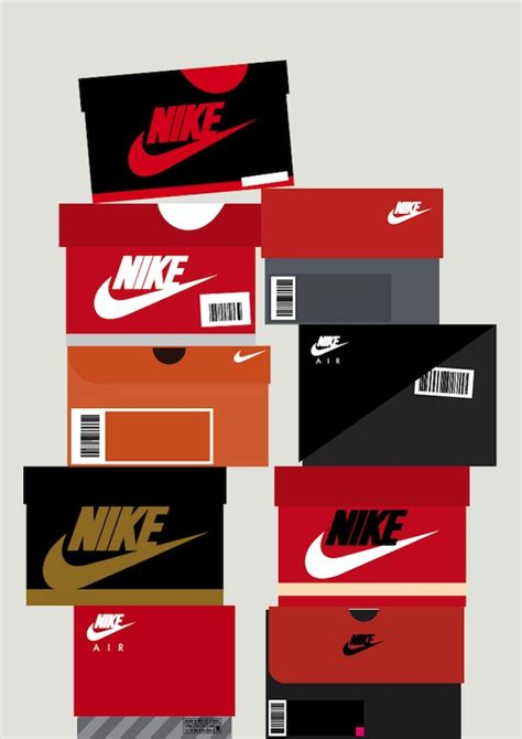 sneaker box illustrations chart the evolution of nike and
