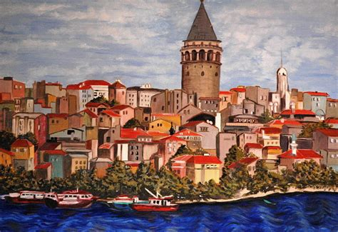 Blick über godener Horn auf alt-Istanbul mit Galata-Turm ... K 1687