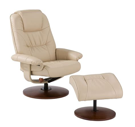 euro recliner with ottoman euro style recliner and ottoman in taupe leather