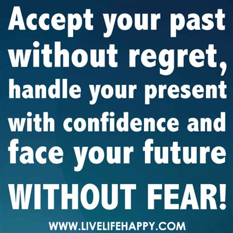 Without Regret accept your past without regret live happy
