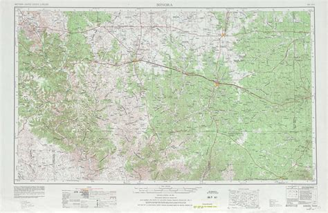 map of sonora texas sonora topographic maps tx usgs topo 30100a1 at 1 250 000 scale