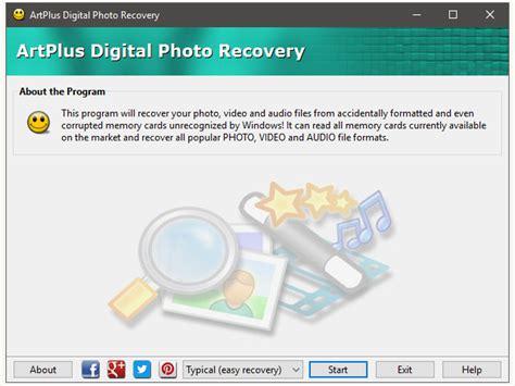 photo recovery artplus software home of artplus desktop