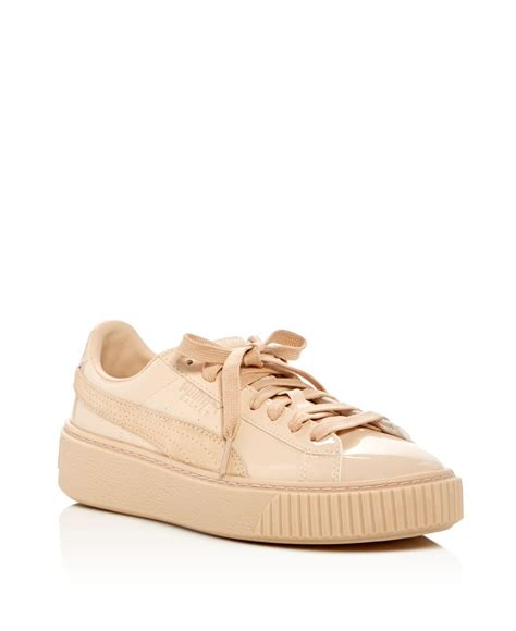 Lace Up Patent Platform Shoes basket patent lace up platform sneakers in pink lyst