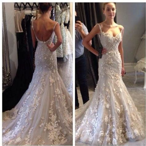 custom wedding dress 2015 spring wedding dresses spaghetti backless applique