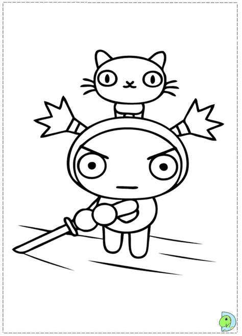 pucca house free coloring pages