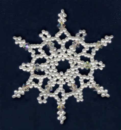 free bead patterns and ideas snowflakes falling ornament
