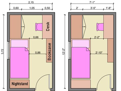 small bedroom measurements kid s bedroom layouts with one bed
