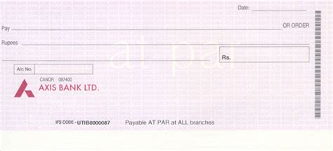 Axis Bank Blank Letterhead Cheque Printing Software Cheque Images And Cheque Photos