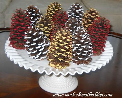 pine cone crafts for painted pine cones crafts mother2motherblog