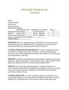 hair and makeup contract template bridal hair and makeup contract makeup vidalondon