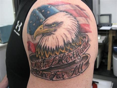 ae tattoo american eagle and flag