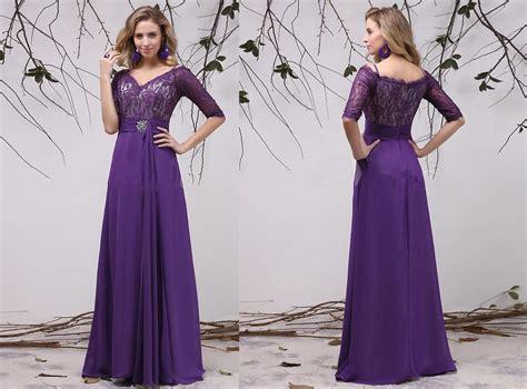 Bridesmaid Dresses Uk Sleeve - half sleeve purple bridesmaid dresses budget bridesmaid