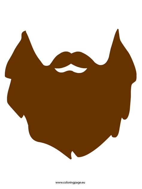 printable beard template carnival coloring page
