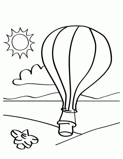 Hot Air Balloon Templates Coloring Home Print And Color L