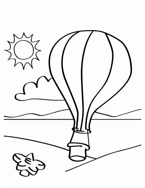 Hot Air Balloon Templates Coloring Home