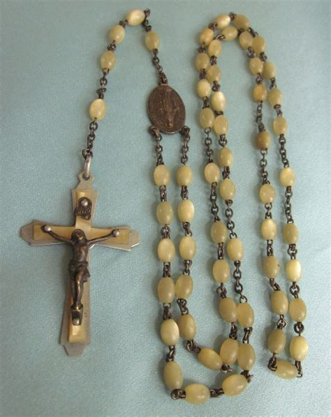 vintage rosary vintage rosary with pale gold sold on ruby